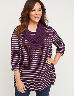 Marston Stripe Duet Tunic Top