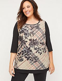 Winfield Plaid Tunic Top