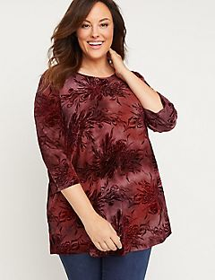 Blooming Hues Tunic Top
