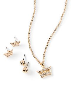 Glistening Crown Chain Necklace
