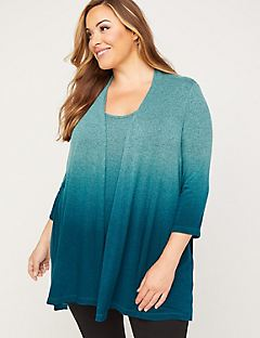 ComfySoft Dip-Dye Duet Top