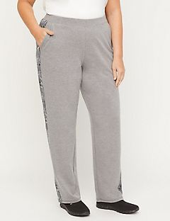 Straight Leg Pant With Contrast Side
