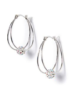 Clear Horizon Hoop Earrings