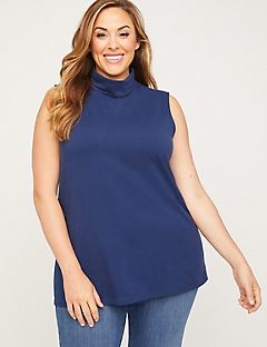 Suprema Sleeveless Turtleneck Top