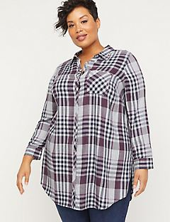Willow Spring Buttonfront Tunic Top