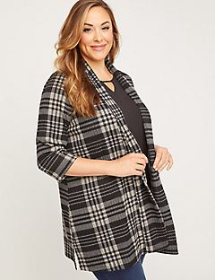 Welby Plaid Duster