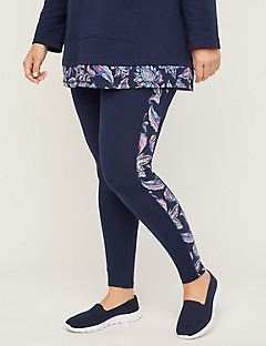 Paisley Stripe Active Legging