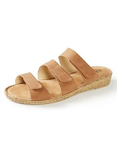 Good Soles Triple-Strap Wedge Sandal