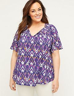Seaford Gauze Peasant Top