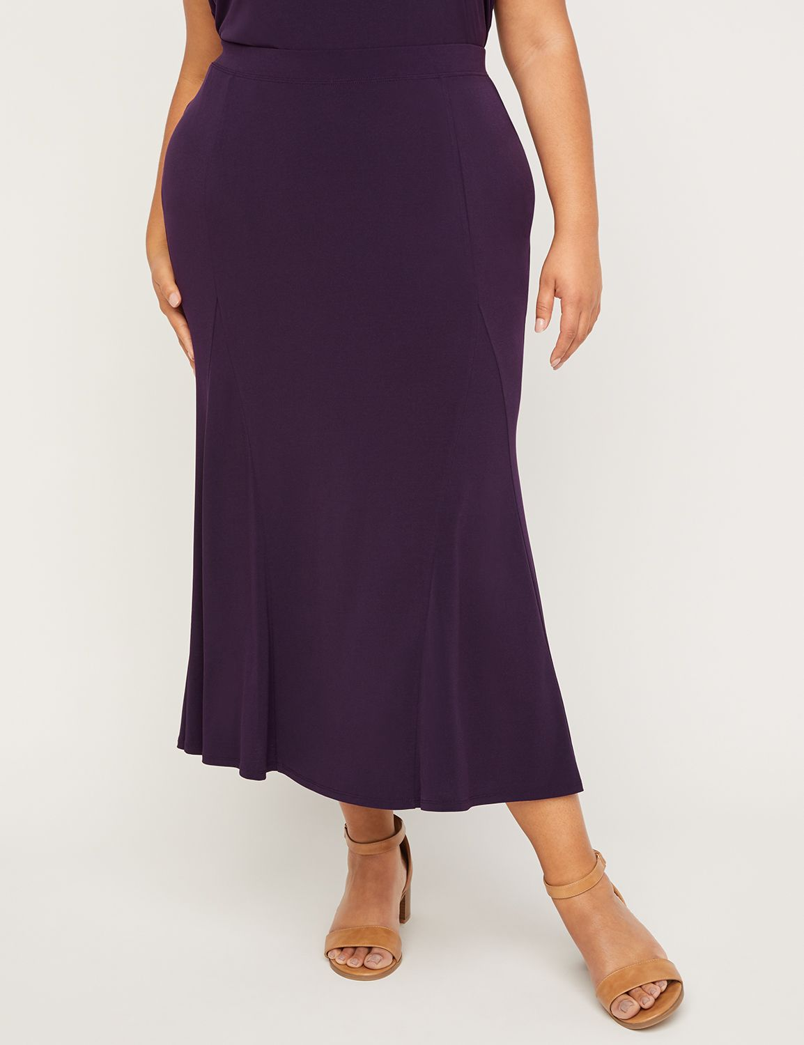 AnyWear Plum Swing Skirt