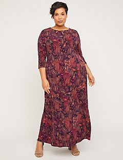 AnyWear Paisley Sunset Dress