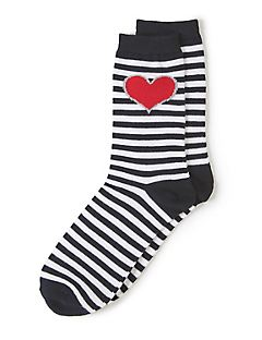 Stripes of Love Crew Socks