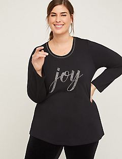 Shimmer with Joy Tee