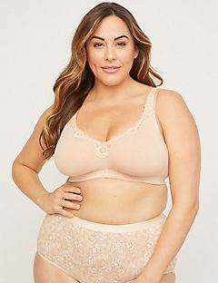 Cotton Comfort No-Wire Bra With Lace