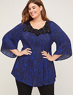 Pleated Midnight Breeze Top