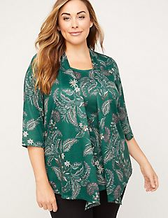 Greenbelt Paisley Duet Top