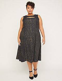Black Label Gold Shimmer Dress