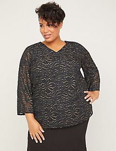 Black Label Gold Shimmer Blouse