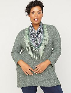 ComfySoft Duet Scarf Tunic Top