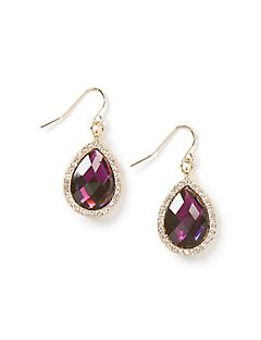 Violet Teardrop Earrings