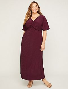 Pinewood Twist-Knot Maxi Dress