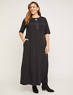 Easy Horizon Fit & Flare Maxi Dress (With Pockets)