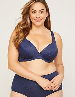 Uplifting Plunge Bra in Foil Dot