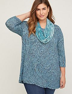 ComfySoft Paisley Duet Scarf Tunic