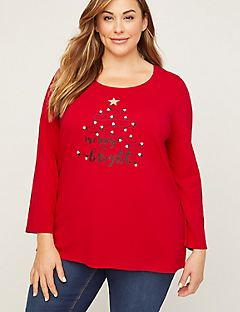 Merry & Bright Top With Long Sleeves