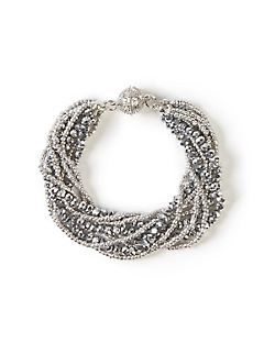 Sparkling Twist Beaded Bracelet