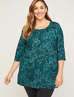Paisley Brush Easy Fit Tee