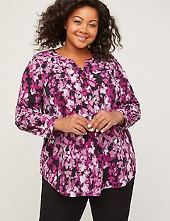 Signature Crepe Floral Impression Blouse