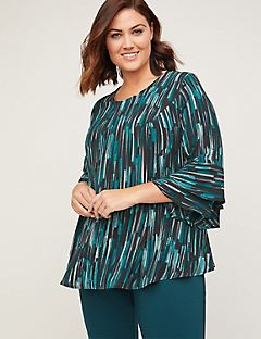 Black Label Waterfall Blouse