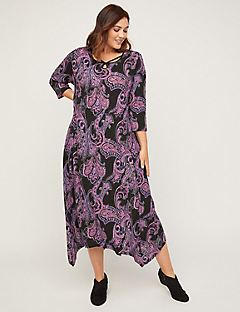 AnyWear Shimmer Paisley Midi Dress