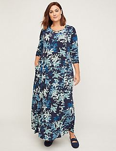 Floral Grove Maxi Dress (With Pockets)