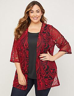 Embroidered Paisley Overpiece