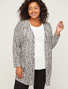 Paisley Shadow Tunic Cardigan