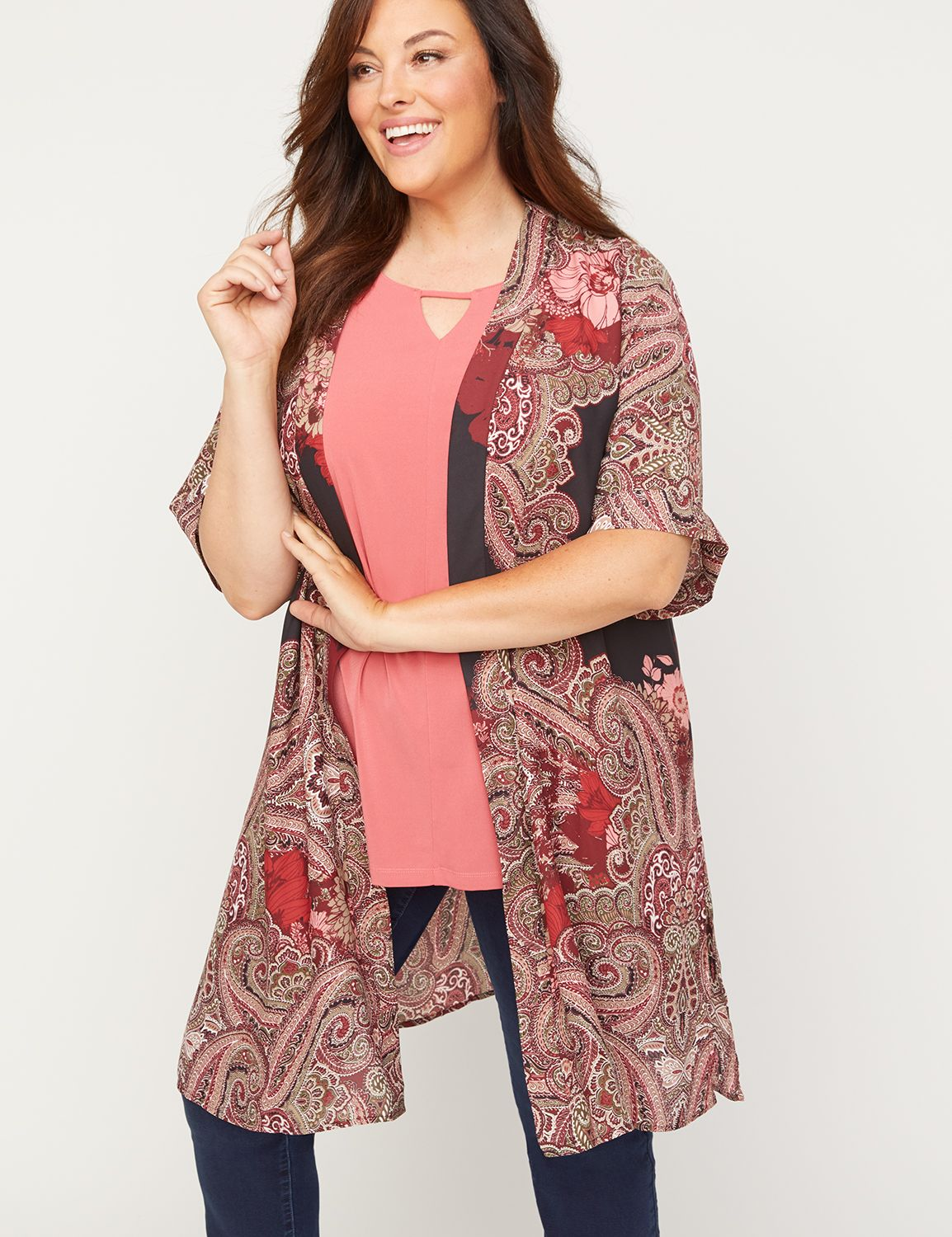 Ashbaugh Paisley Georgette Overpiece