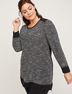 ComfySoft Mixed Fabric Tunic