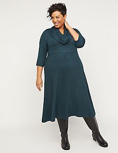 Comfy Soft Duet Scarf Dress