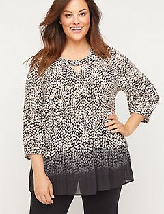 Pleated Pebble Georgette Top