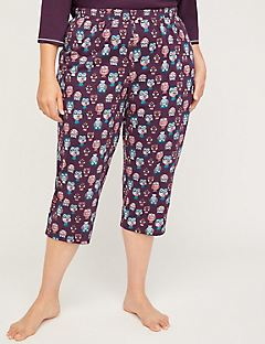 Night Owl Cotton Sleep Capri
