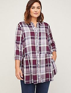 Peplum Perfection Buttonfront Tunic (With Pockets)