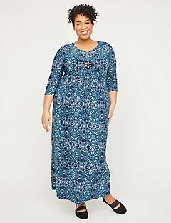 Winflo Medallion Twist Maxi Dress