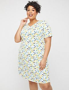 Lemon Squeeze Cotton Sleepshirt