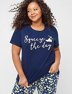 Lemon Squeeze Cotton Sleep Tee