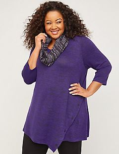 ComfySoft Button Bliss Duet Scarf Tunic