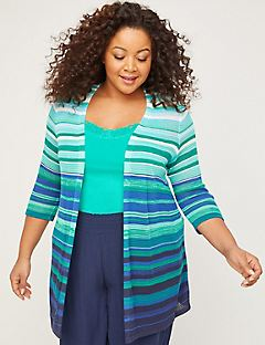 Sunshine Stripe Pointelle Overpiece