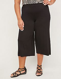AnyWear Pull-On Wide Leg Capri