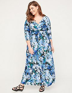 Garden Walk Twist-Knot Maxi Dress